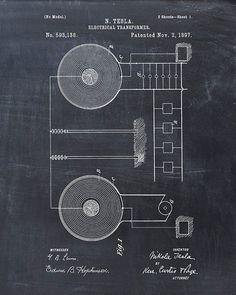 Tesla Electrical Transformer patent