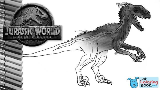 How To Draw Jurassic World Indoraptor Dinosaur Color Pages Drawing And Coloring Indoraptor For Indoraptor Coloring Pages Printable For Free