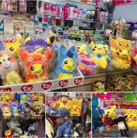 Lots of Pokemons and Pikachus inside and around our store. Come in-store and find them!