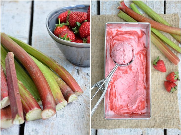 Pineapple and Mint: FroYo Strawberry and Rhubarb