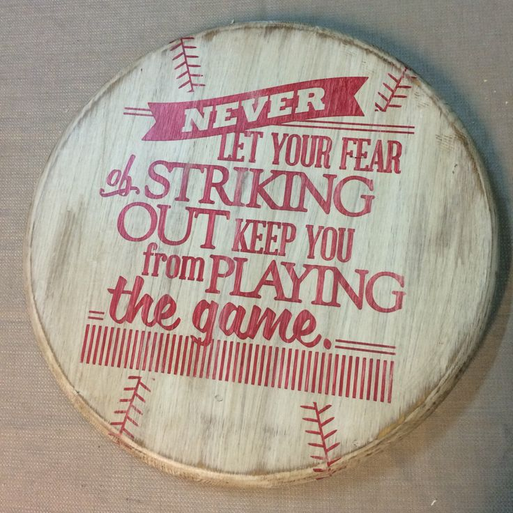 Rustic Baseball Wall Decor With Quote By TimberCreekDandCLLC On Etsy