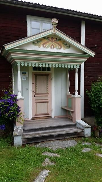 The traditional Hälsingland farm steads are famous for their elaborately decorated porches. In 2012, they joined Unesco's World Heritage list.