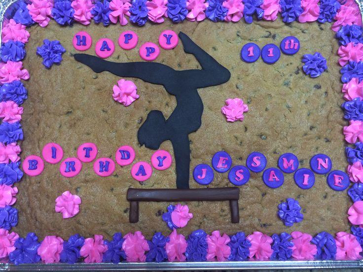 Gymnastics cookie cake
