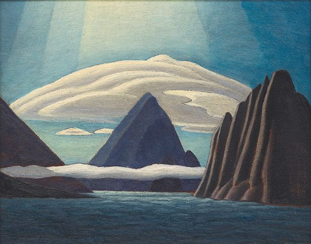 Albert Harbour, North Baffin Island (1930) by Lawren Harris. Canada's Group of Seven