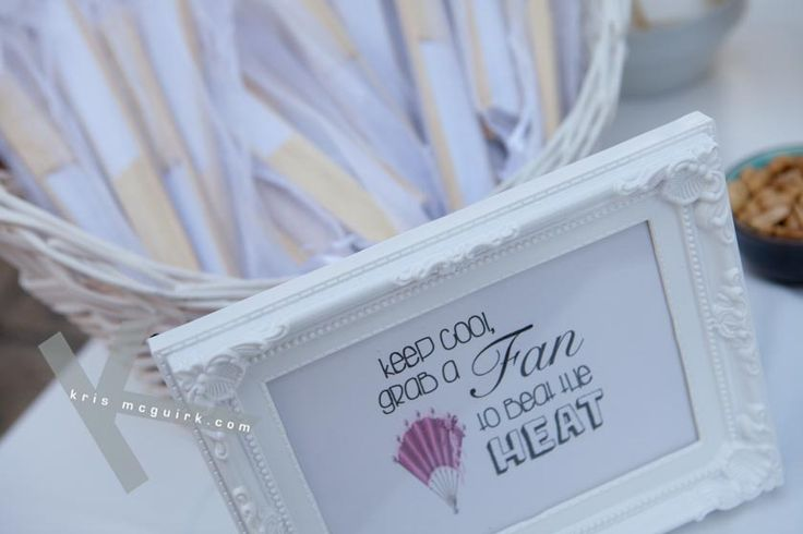 Fun Fan ideas for your guests on a hot day. Photography by Kris Mc Guirk.