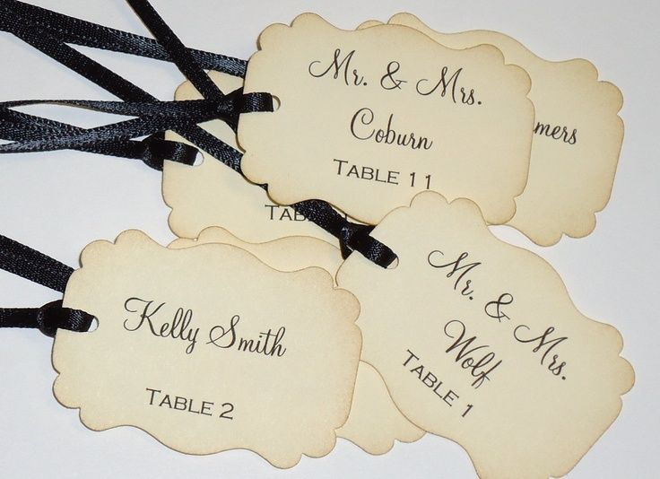 Wedding Favor Ribbon Tags : wedding favor ribbon Escort Tags for Wedding Favors with Ribbon ...
