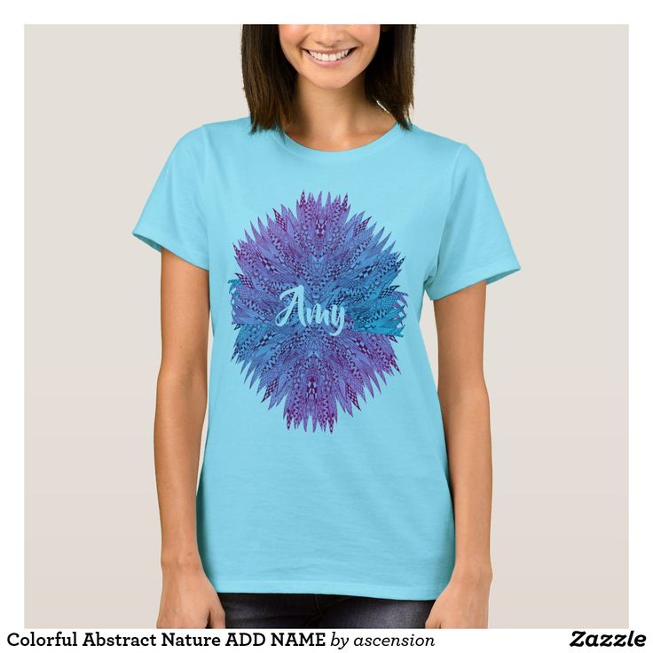 Colorful Abstract Nature ADD NAME T-Shirt