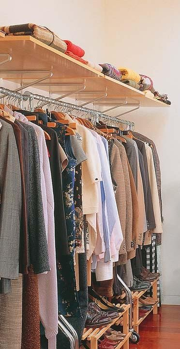 Opções ao guarda roupas tradicional