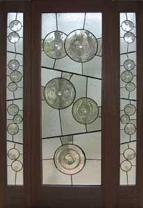 a contemporary exterior door | 8 panel leaded glass door | kuhl doors