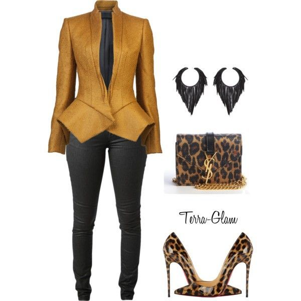 Simply Slayed by terra-glam on Polyvore featuring Haider Ackermann, Acne Studios, Christian Louboutin and Yves Saint Laurent