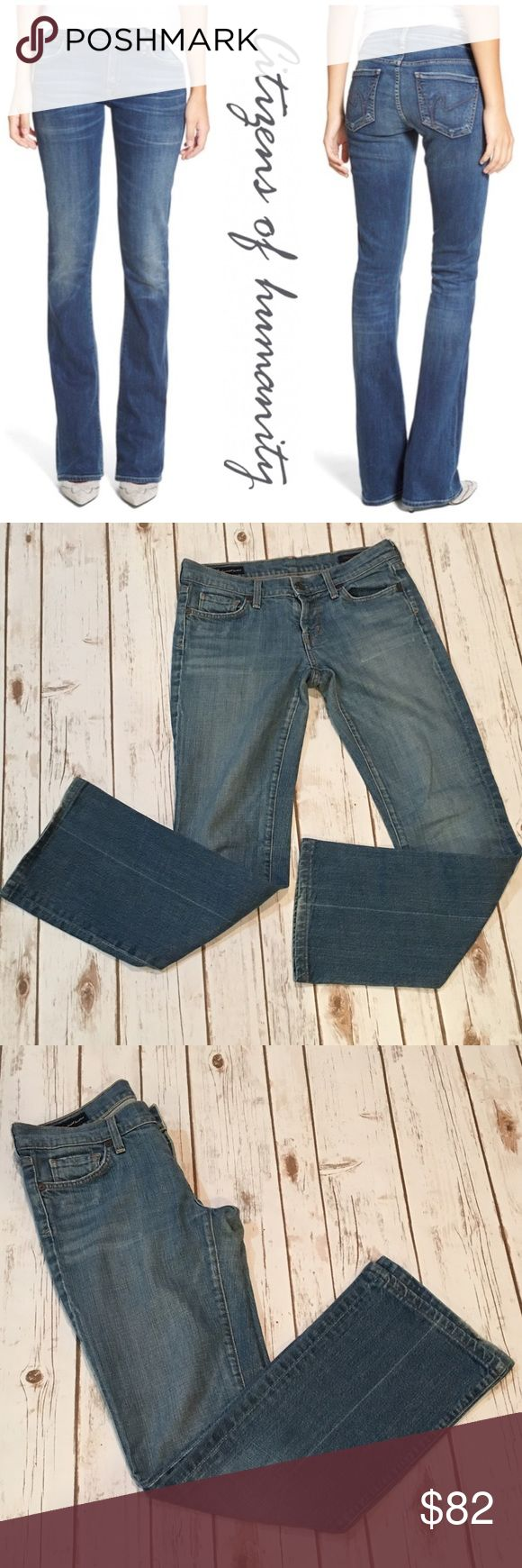 "Citizens of Humanity Boot Cut Jeans Preowned. Worn a handful of times. No rips, stains or marks. Front rise 8"" Back rise 12"" Inseam 30"" . Pic 1 for modeling purposes only. NO TRADES. Reasonable offers considered through offer button only. Citizens of Humanity Jeans Boot Cut"