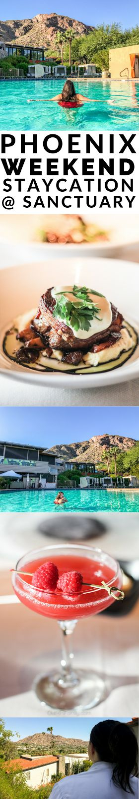 Sharing the details from our weekend staycation at Sanctuary on Camelback! ad
