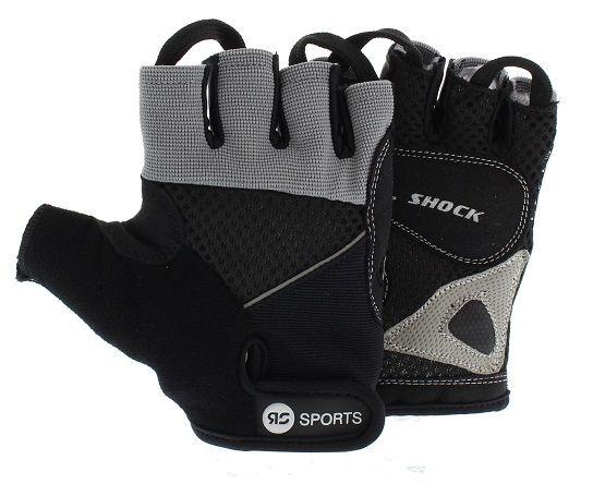Fitnesshandschoen RS Sports Gel shock XL  Description: De Fitnesshandschoen RS Sports Power is een combinatie van ployester en badstof. Dit maakt de fitnesshandschoen comfortabel en makkelijk ademend. Ideaal voor intensieve cardio lessen of kracttraining. De handpalm bevat een extra deel dat extra grip geeft. De gel maakt het prettiger sporten als het om grip gaat. Voorzien van lusjes die het uitrekken van de handschoenen zeer makkelijk maken. Zeer makkelijk te wassen.Kleur: zwart…