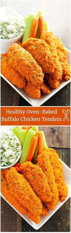 Healthy Crispy Oven-Baked Buffalo Chicken Tenders - 2teaspoons