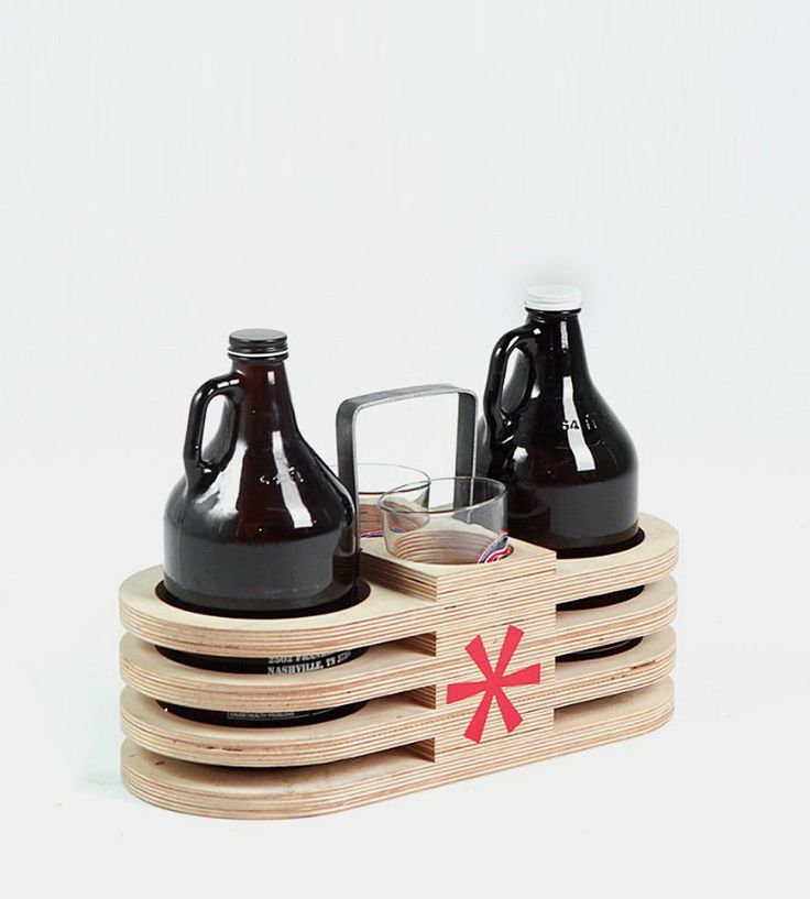 Wood Growler Carrier | Wildcard Design