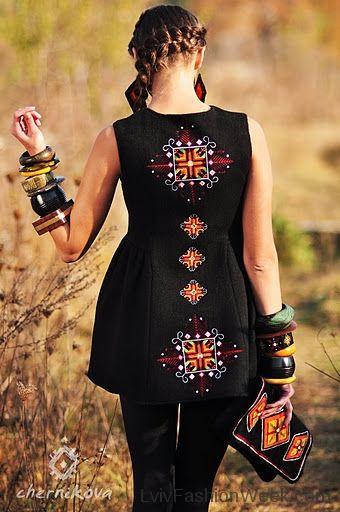 Ukrainian designer Lyuba Chernikova - embroidered top