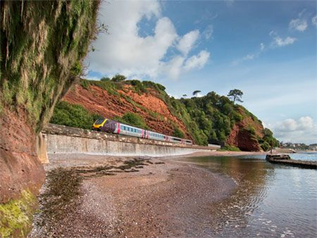 Another one of the train near Dawlish. Stunning scenery.