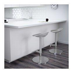 IKEA - JANINGE, Tabouret de bar, La forme du siège offre un grand confort d'assise.La hauteur peut être facilement réglée d'une seule main.Confortable grâce au repose-pieds.Un traitement spécial de surface rend l'assise très résistante aux rayures.