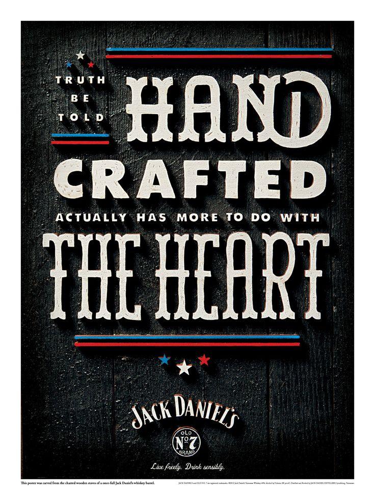 Jack Daniel's: CraftWhiskey Barrels, Graphics Design, Hands Crafts, Jack O'Connel, Typography, Posters, Independence Day, Jackdaniels, Jack Daniels