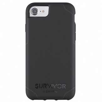 Griffin Survivor -Journey Strong / Military Standard 810-G standards [6.6 Ft.] Drop Protection On Concrete Cover Case Black Fits Apple Iphone 7 /6S/6 [4.7 inch ] Cellphone
