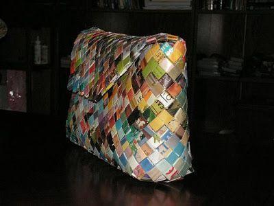 Nannybird Crafts: A Flat Bottom Candy Wrapper Purse