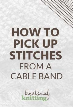 Knitting How To Pick Up Stitches For Neckband : 850 best images about Knitting on Pinterest