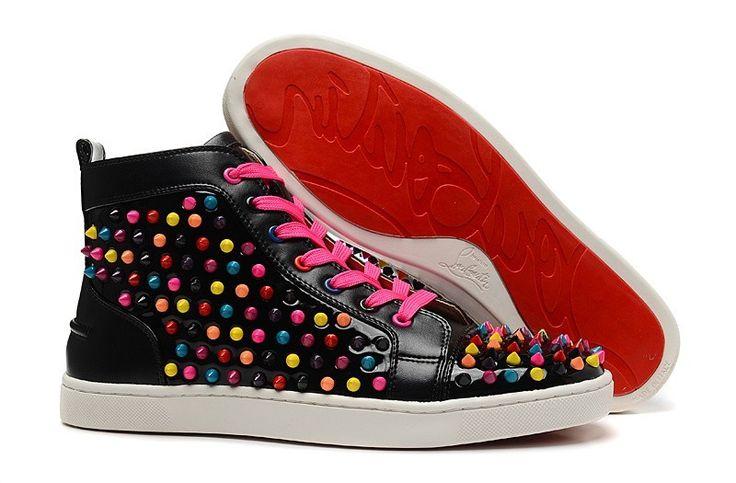 Chaussure Louboutin Pas Cher Homme Noir Flat Multi7 #chaussure
