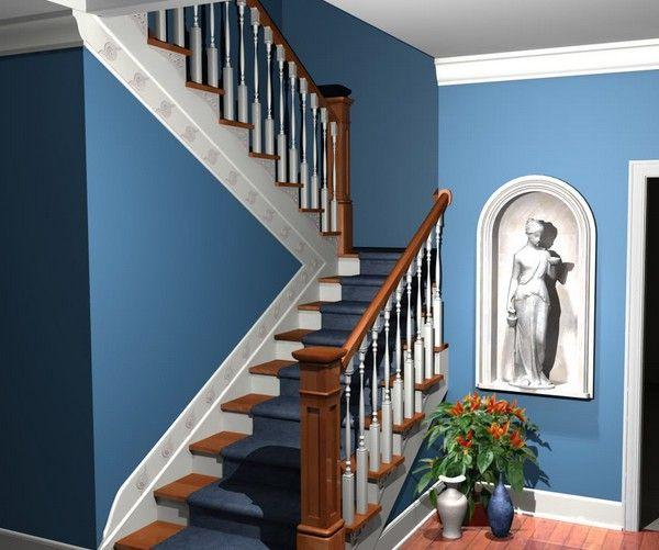 comment peindre rapidement un escalier en bois. Black Bedroom Furniture Sets. Home Design Ideas