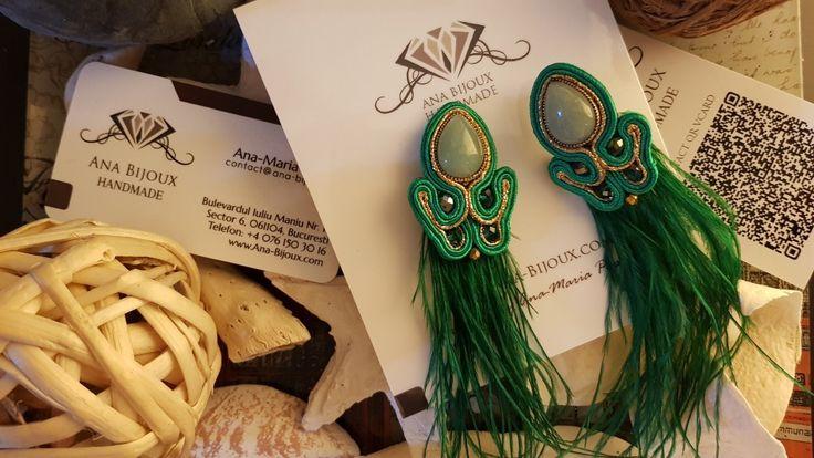 Cercei Soutahe #ANA819698 - Cercei handmade soutache.  - Bijuterii Handmade - Ana Bijoux Handmade | Ana-Bijoux.com | Ana Bijoux Group