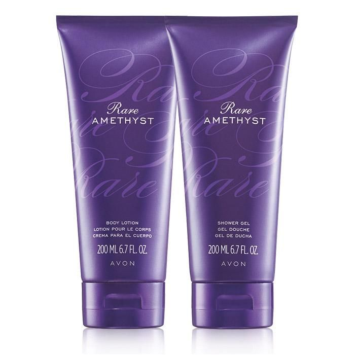 introducting Rare Amethyst Body Lotion Glamorous and captivating, this sensual jewel of passionate plum shimmers with mysterious violet and rich sandalwood. Experience the sophistication of Rare Amethyst with a silky all-over body lotion. 6.7 fl. oz. www.youravon.com/abigailstore