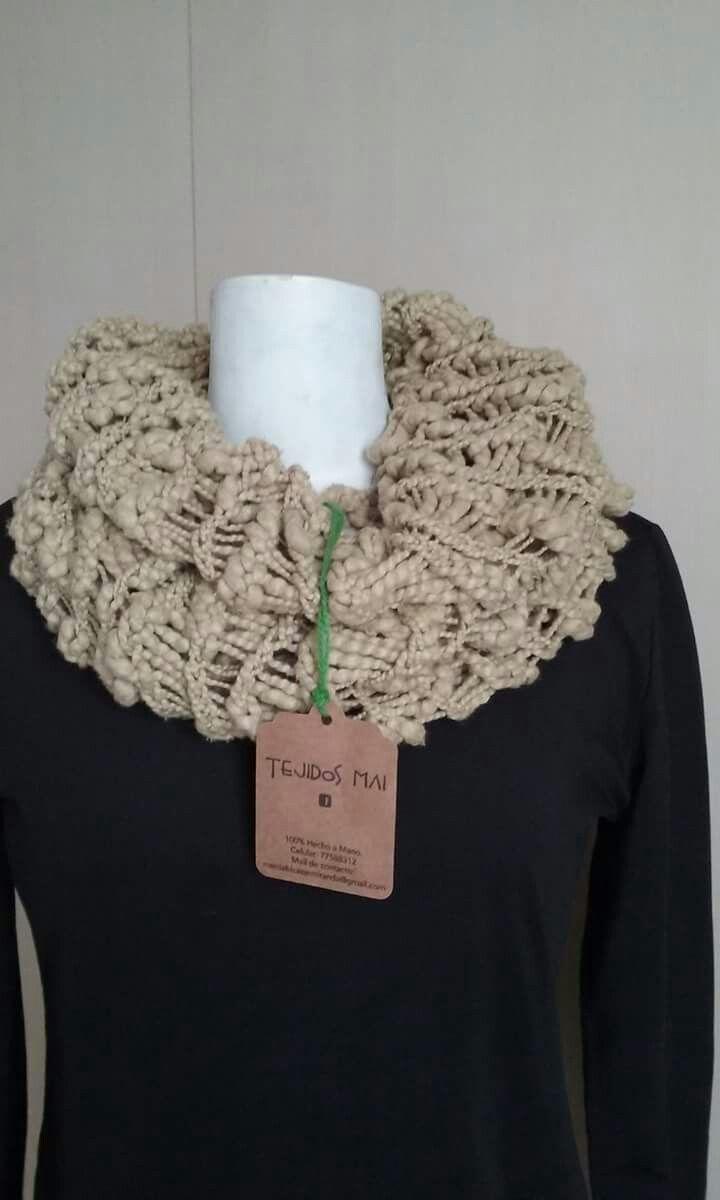 Cuellito tejido a telar circular, felpudo para pasar el invierno, llevalo a solo $4.000