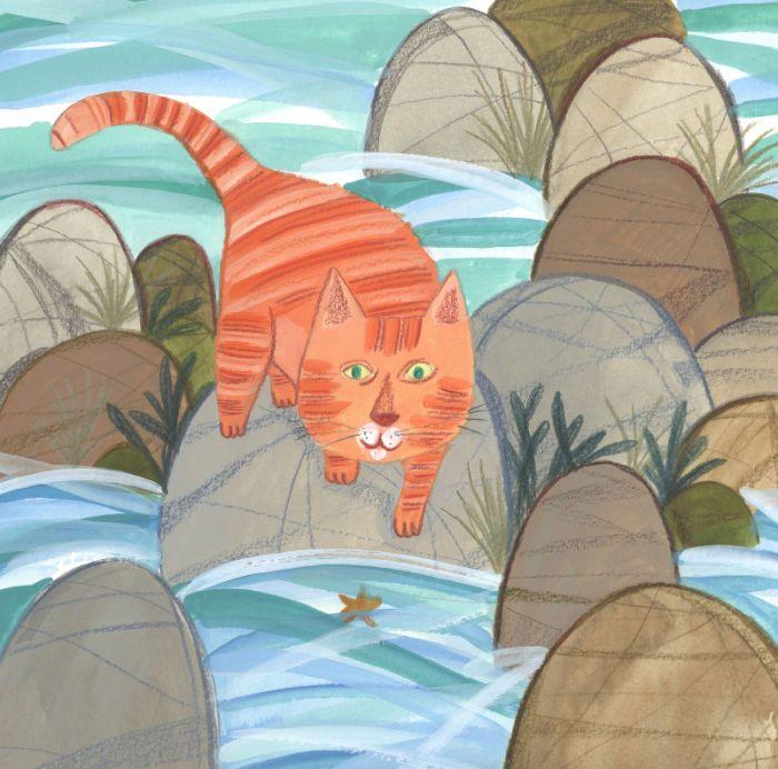 Kay Widdowson - Rock Pool Cat