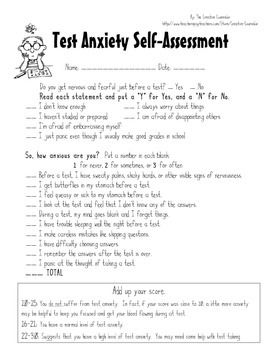 Printables Test Anxiety Worksheets 1000 ideas about test anxiety on pinterest fun facts school counselor self assessment coping ski