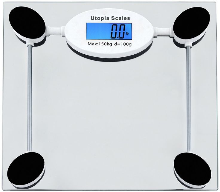Digital Glass Bathroom Scale   Tempered Glass With LCD Display (Clear), 330  Lb