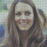 Kate Middleton mosaic from Postits