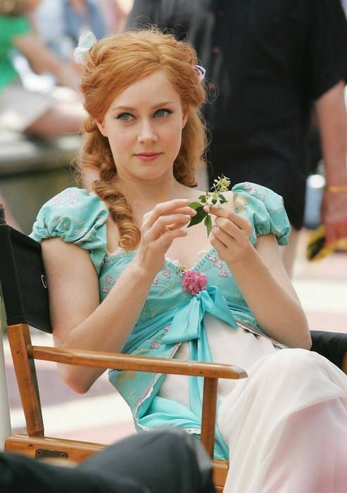 "amy adams on the set of ""enchanted"". she looks like wan adorable little girl!!"