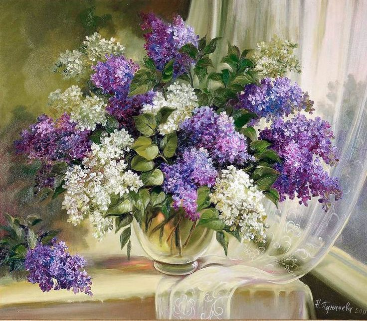 N. Punicheva - Lilac at the window