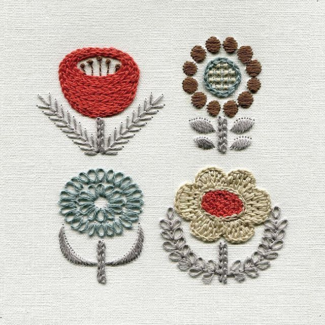 Beautiful embroidery variation! #EmbroideryYumikoHiguchi