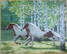 '2 Running Horses' by Persis Clayton Weirs Calender print