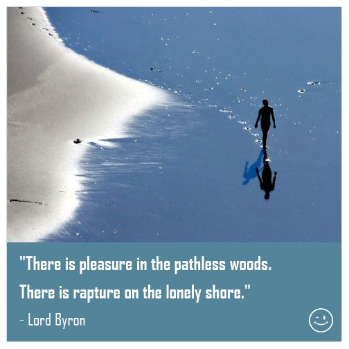 There Is Pleasure In The Pathless Woods by George Gordon