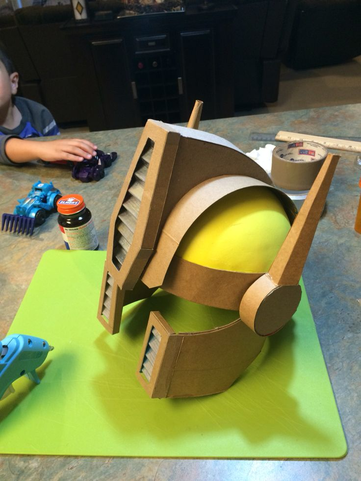 Optimus Prime Costume: Helmet construction (pre-painted)                                                                                                                                                     More