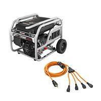 Black Max 5,700 Watt Gas Portable Generator with 30 AMP Cord - Sam's Club