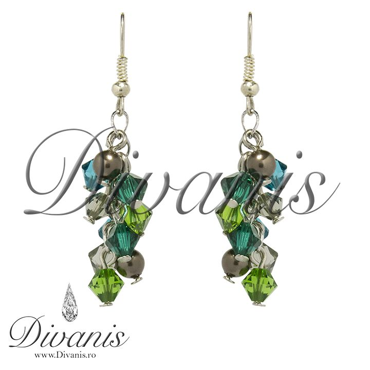 Glindy Earrings with Swarovski crystals and pearls