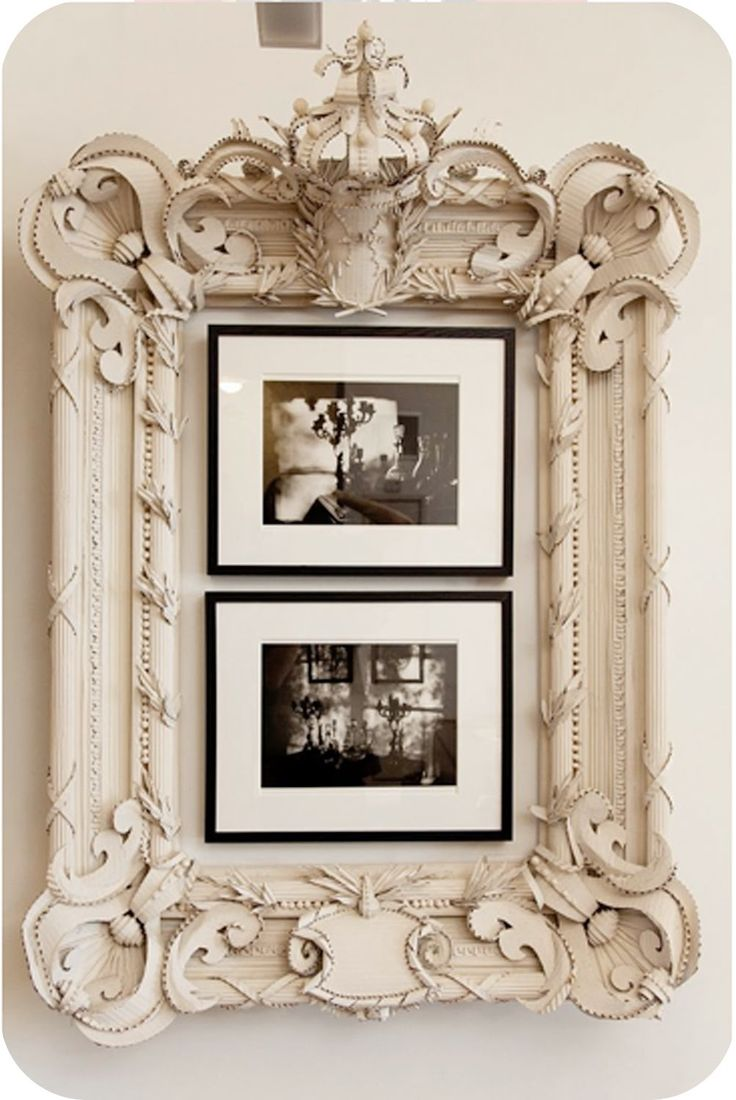 Was perusing through The Selby and discovered this frame  made completely out of cardboard. It's ridiculously amazing & I want to make on...