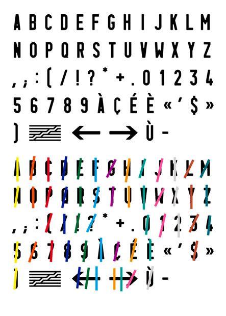 Atelier de création graphique, signalétique Centre Pompidou