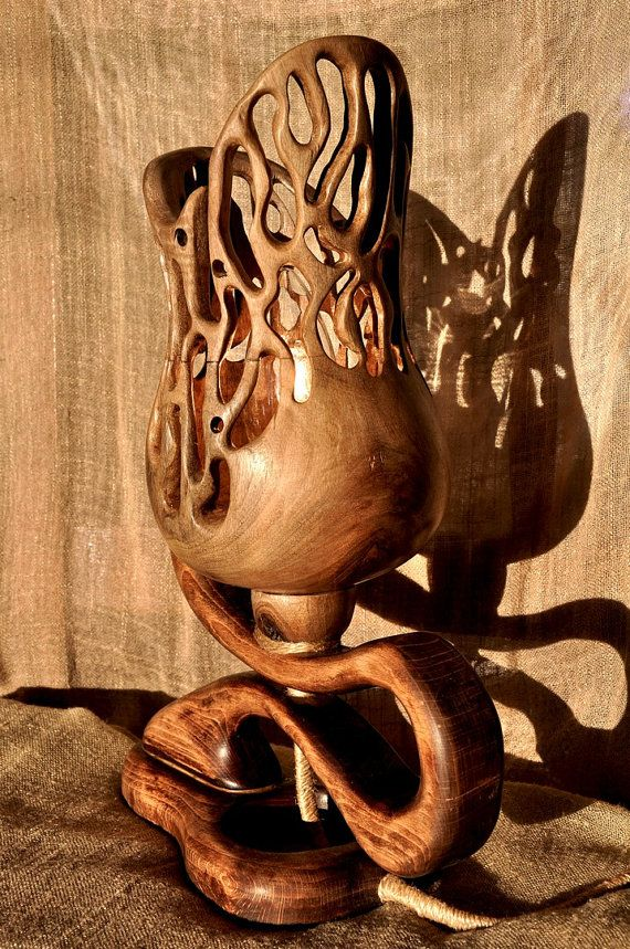 The Vine  Handcrafted Artsy Wooden Lamp by MiroWoody on Etsy