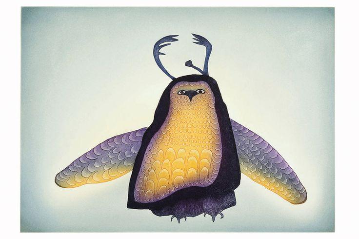 Owl Incognito (2008) by Ohotaq (Oqutaq) Mikkigak, Inuit artist (CD2008-26)