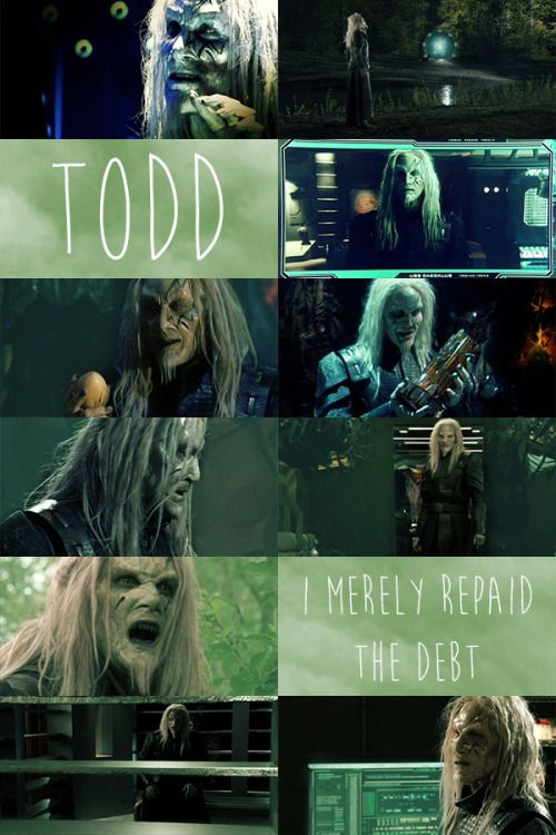 """Stargate Atlantis, Todd the Wraith """"I merely repaid the debt."""""""