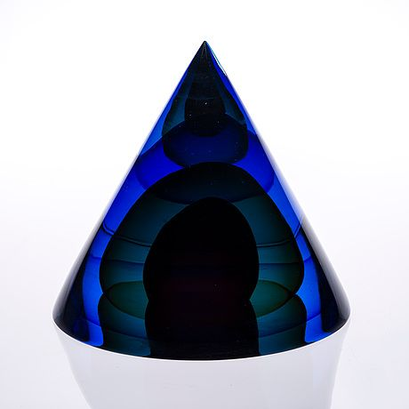 "TIMO SARPANEVA - Art glass sculpture ""Cor moris"" at studio Pino Signoretto 1988, Murano. - A Finnish designer."