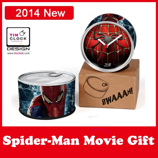 Free Shipping! New Arrival Movie Gifts Red Spider-man Clocks Customized Wall Clocks Spider man Movie Gift Magnetic Desk Clocks